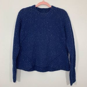 PrAna | Navy Blue Knit Cropped Style Sweater